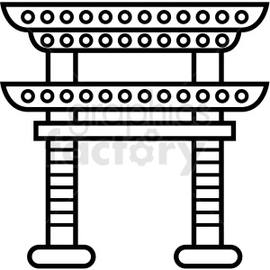 japanese tower vector icon