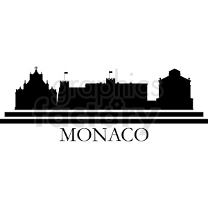 vector monaco city skyline template clipart. Commercial use image # 410718