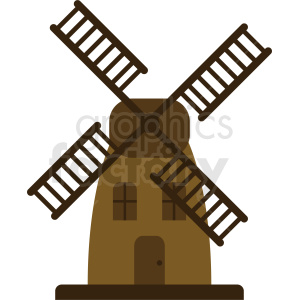 windmill vector icon clipart. Royalty-free image # 410727