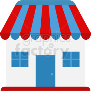 storefront vector icon clipart. Commercial use image # 410731