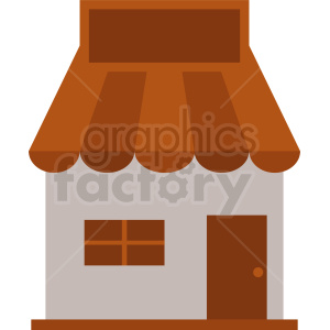 storefront clipart with blank sign clipart. Commercial use image # 410742