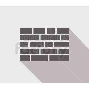 brick wall vector icon design clipart. Royalty-free image # 410744