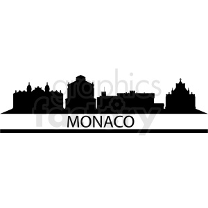 vector monaco city skyline clipart. Commercial use image # 410750