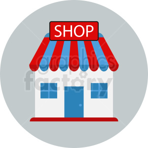 retail storefront vector icon clipart. Commercial use image # 410758