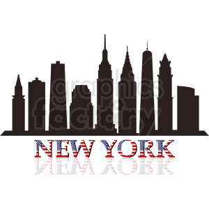New York skyline design clipart. Commercial use image # 410759