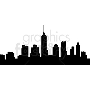 New York vector skyline clipart. Commercial use image # 410767