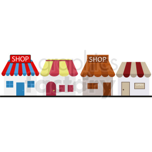 storefronts vector clipart clipart. Commercial use image # 410773