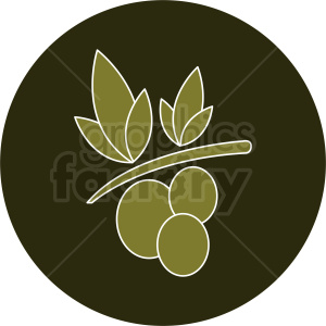 olives icon with white outline