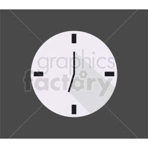 wall clock on dark gray background clipart. Royalty-free image # 410824