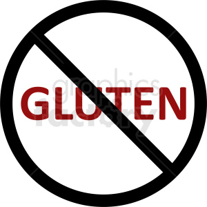 no gluten vector clipart clipart. Commercial use image # 410863