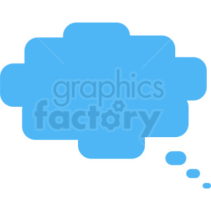 blue 8 bit speech bubble vector clipart no background clipart. Commercial use image # 410889