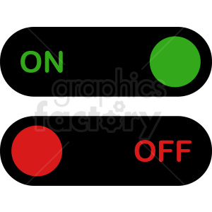 on off switches vector icon clipart. Commercial use image # 410920