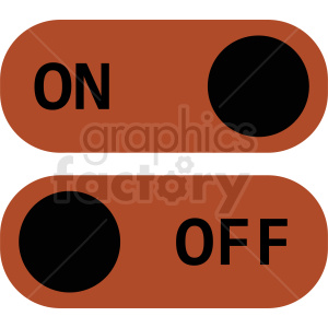 on off toggle vector icon clipart. Commercial use image # 410926