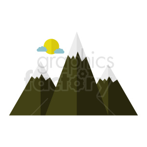mountain vector clipart clipart. Royalty-free image # 410940