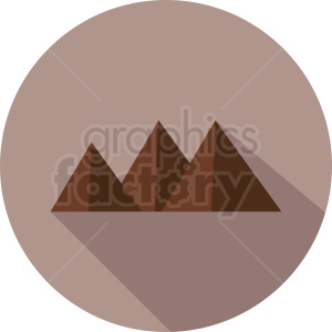 mountain vector icon on circle background clipart. Commercial use image # 410958