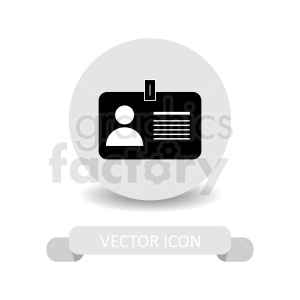 office id vector icon clipart. Royalty-free image # 411032