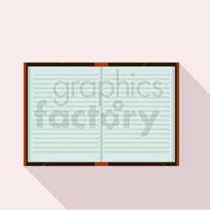open book on square background clipart. Commercial use image # 411034