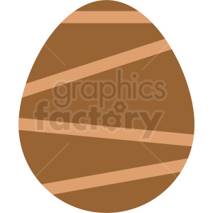 brown easter egg vector clipart clipart. Royalty-free image # 411051