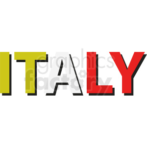 Italy vector clipart clipart. Commercial use image # 411109