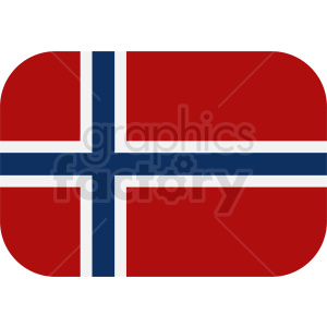 flag of Norway vector clipart. Royalty-free image # 411120