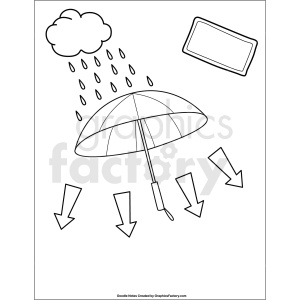 doodle notes printable page for precipitation clipart. Royalty-free image # 411138