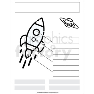 doodle notes printable template space theme clipart. Royalty-free image # 411142