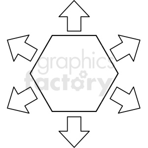 doodle notes elements hexagon with arrows clipart. Commercial use image # 411152