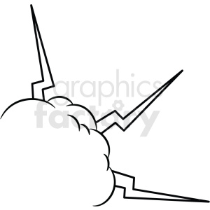 doodle notes elements cloud with lightning clipart. Royalty-free image # 411159
