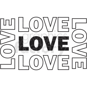 love typography iron on design clipart. Royalty-free image # 411168