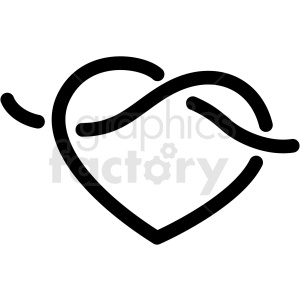 infinity heart vector clipart. Royalty-free image # 411173