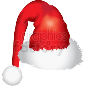 santa hat left vector clipart clipart. Royalty-free icon # 411178