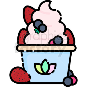 frozen yogurt vector clipart icon