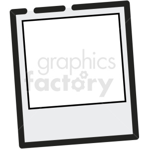polaroid photo vector icon clipart. Royalty-free image # 411224