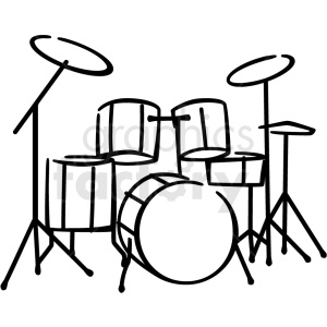 drum set clipart. Commercial use image # 411246