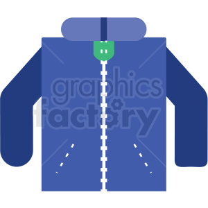winter coat flat vector icon clipart. Royalty-free image # 411262