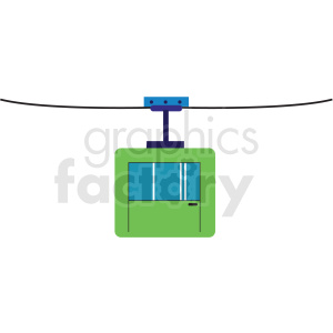 ski lift flat vector icon clipart. Royalty-free image # 411270
