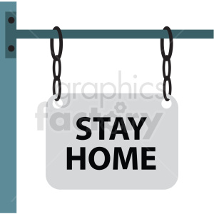 stay home flat vector icon clipart. Royalty-free image # 411282