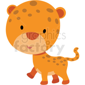 baby cartoon leopard vector clipart clipart. Commercial use image # 411362