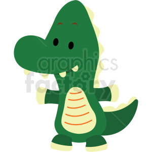 baby cartoon alligator vector clipart