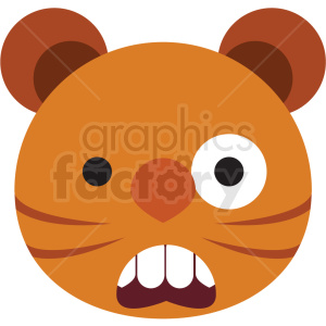 cartoon scared animal vector clipart