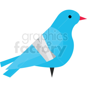 cartoon bird with broken wing vector clipart