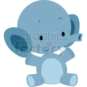 baby cartoon elephant vector clipart clipart. Commercial use image # 411402