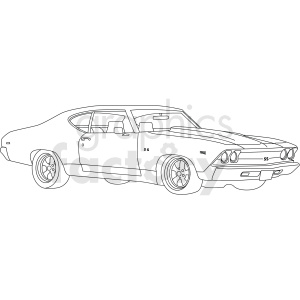 1969 chevelle ss clipart. Commercial use image # 411478