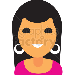 girl with pink top avatar icon vector clipart clipart. Commercial use image # 411530