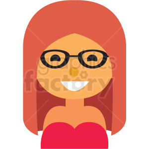 hipster girl avatar icon vector clipart clipart. Commercial use image # 411536