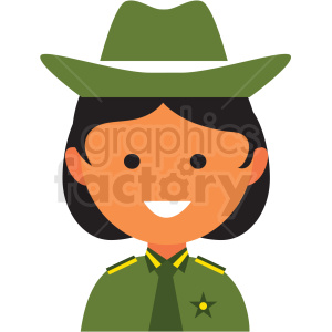 female sheriff icon vector clipart clipart. Commercial use image # 411554
