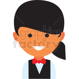 female hostess icon vector clipart clipart. Royalty-free image # 411560