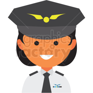 female pilot avatar icon vector clipart clipart. Commercial use image # 411561