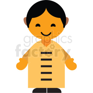 China male character icon vector clipart clipart. Commercial use image # 411576
