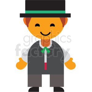 Italian male character icon vector clipart clipart. Royalty-free image # 411589